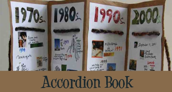 This accordian book timeline is a perfect example of making history fun, engaging, and memorable for your students...get more ideas here...