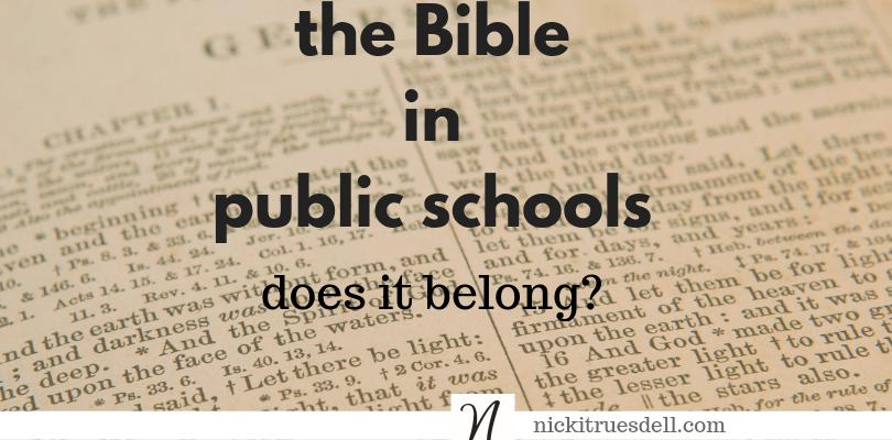 Should we teach the Bible in public schools again?