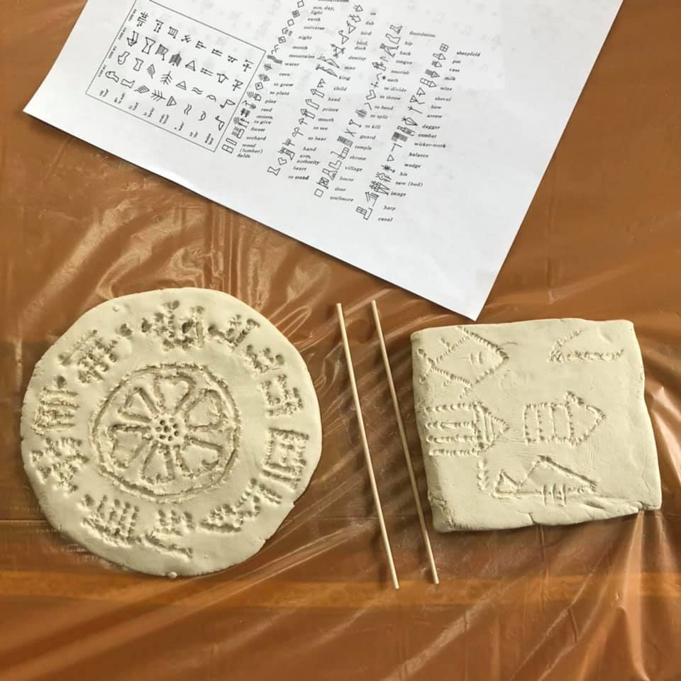 Cuneiform tablet craft activity