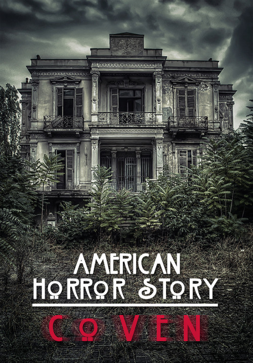 The Salem mansion featured in a (fan made) poster for American Horror Story.
