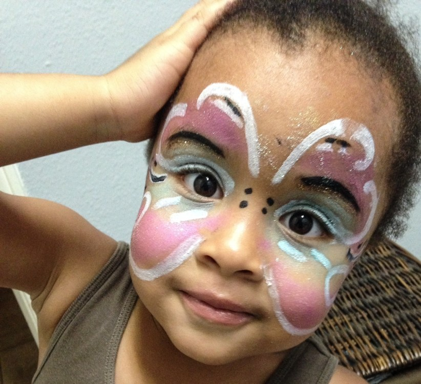 Little Girl Butterfly Makeup ( a slackers picture tutorial)