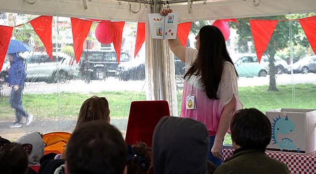 Sylva reading at Barnes Kids Fest