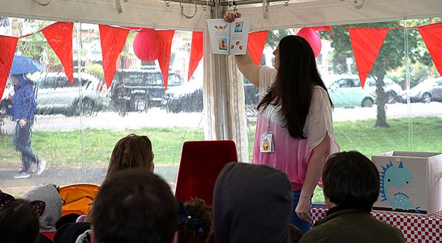 Sylva reading at Barnes Kids Fest