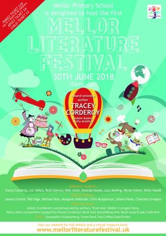Mellor Literature Festival 2018 poster
