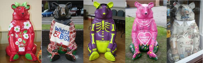 Photos of bear statues from Bearmania 2011