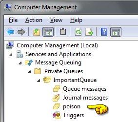 Computer Management - Poison Queue