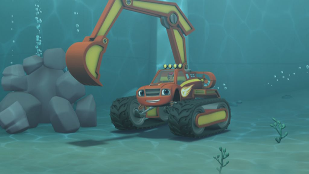 Underwater Excavator Blaze Video Clip S2 Ep210
