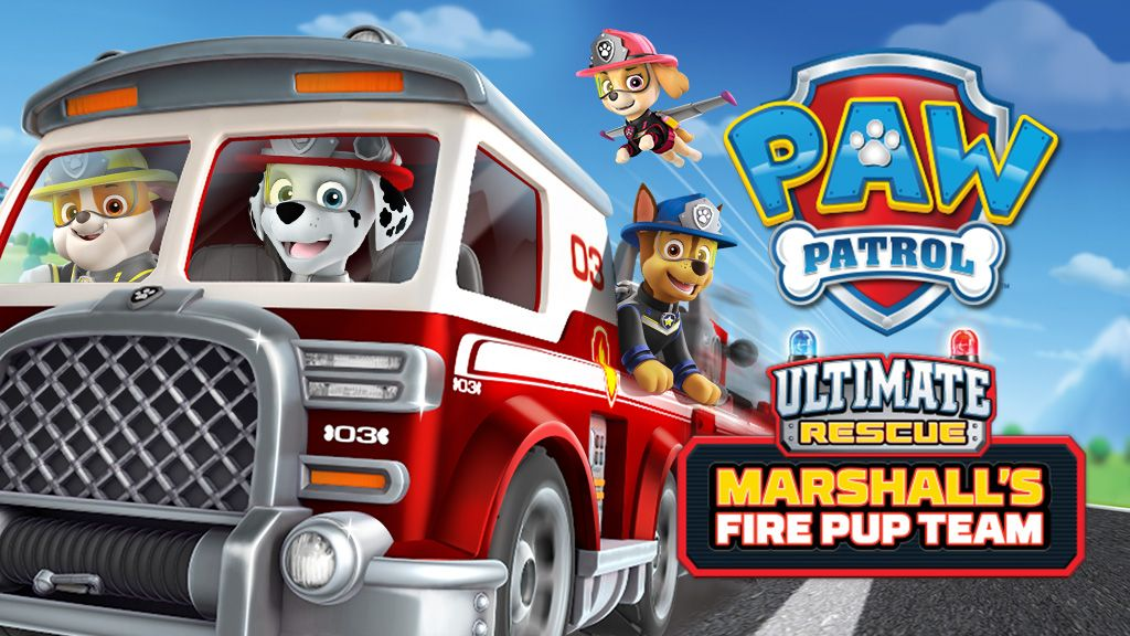 Paw Patrol Ultimate Rescue Marshall S Fire Pup Team