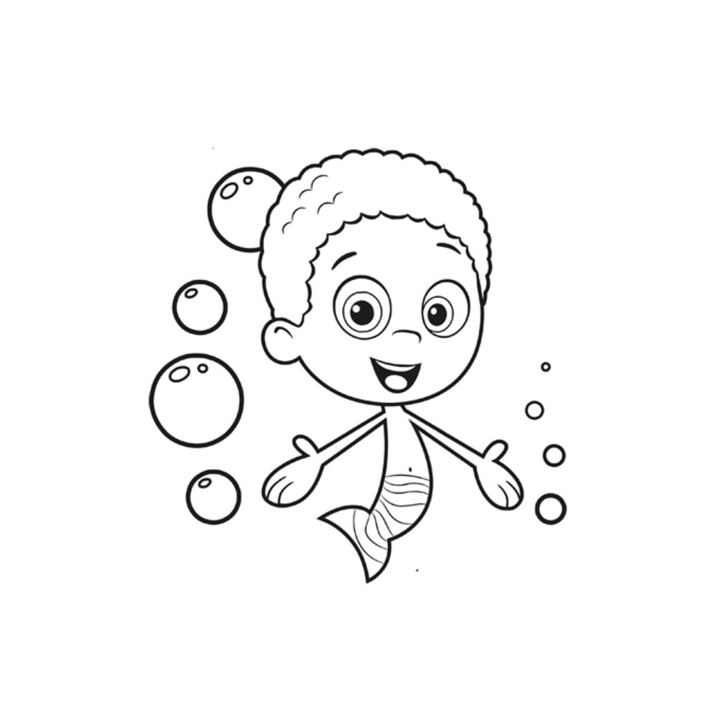Bubble Guppies Coloring Pages Goby. pin bubble guppies ...