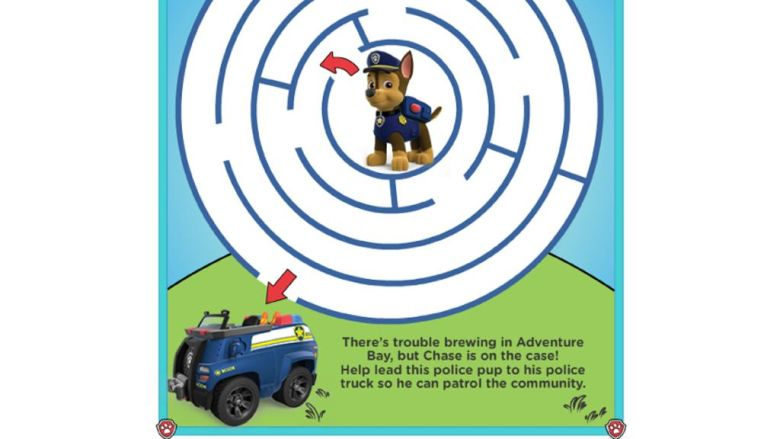 PAW Patrol|PAW Patrol - Maze Activities: Colouring Pages for ...