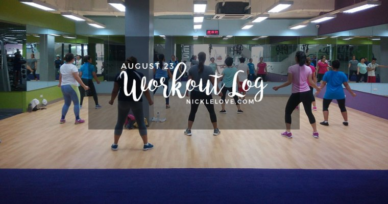 Workout Log – Aug. 23