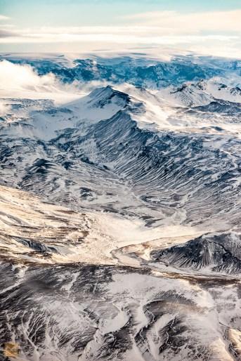 Mountains behind Eyjafjallajökull