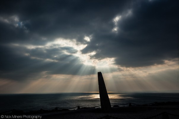 A monument to the war dead at Cap de la Chèvre, Brittany, France