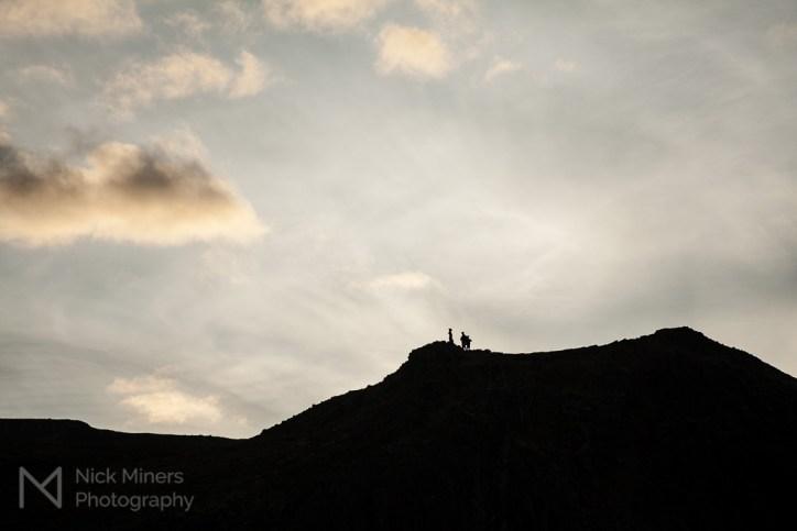 Evening sky at Geysir