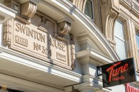 Original architectural feature, Tune Hotel Kings Cross