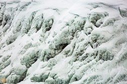 Ice structures at Gullfoss waterfall