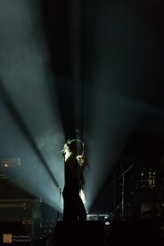 The atmospheric lighting is tested as the sound check ends