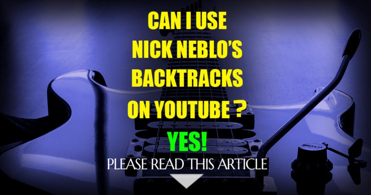 My Backing Tracks Policy | Nick Neblo