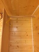bathroom closet curtain rod
