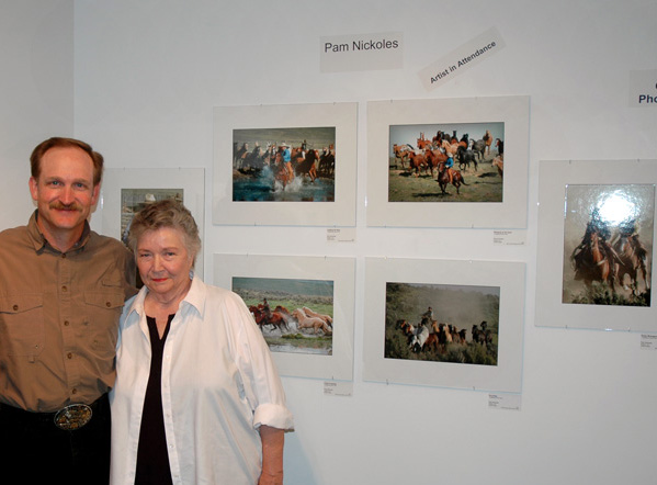 Tom and Mom at my Artist's Reception.