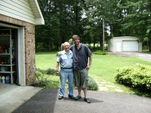 Jake with Pappy, Brandon MS, May 2009