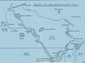 Mason Dixon Trail Map