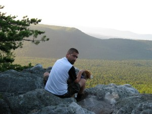 "Atop ""Little Sluice"" in the Northern Appalachian Range"