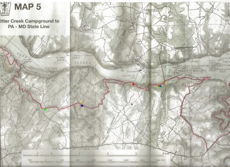 Map of Holtwood Hikes