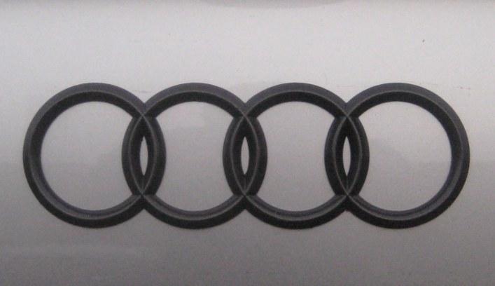 Custom Blackout Audi Trunk Emblem – My Gunmetal Trunk ...