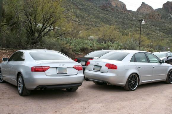 Modified Audis in Desert