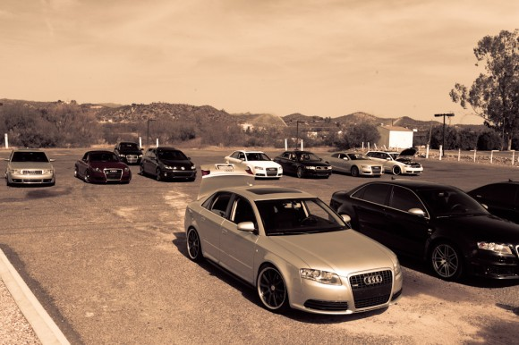 Group of Audi Cars