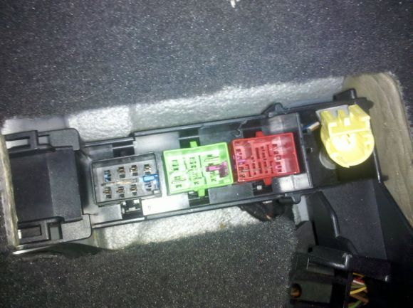 The harnesses in the floor of the car