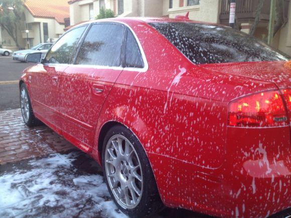 Audi S4 Car Wash