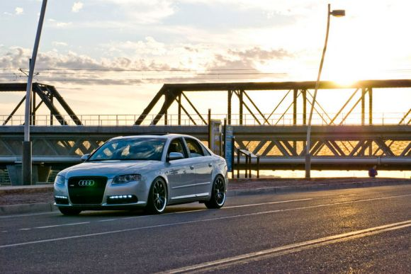 Audi A4 at Sunset