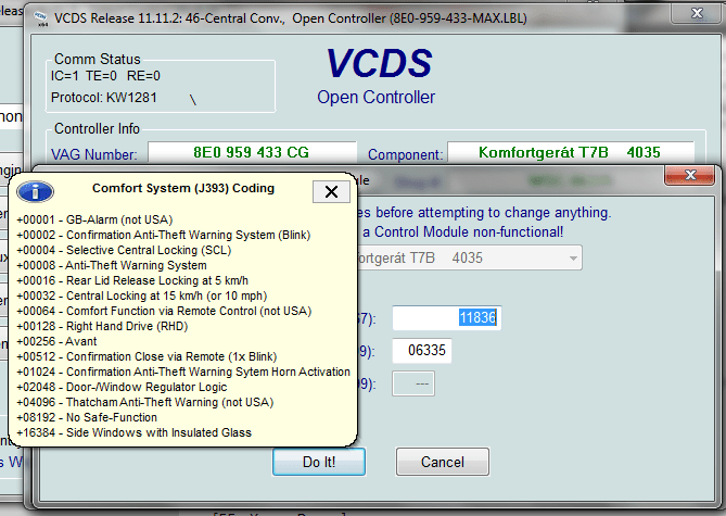 Vag-com remote windows