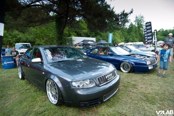 Audi S4 Stanced & Bagged Rotiform BLQ