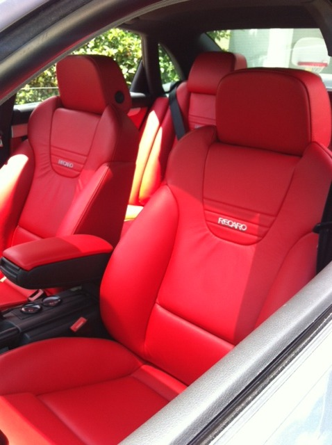 Red Recaro Audi Seats