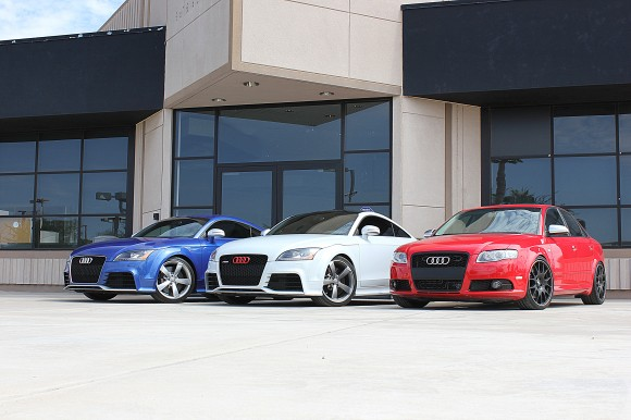 Red White and Blue Audis