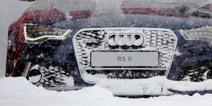 Audi RS6 in the Snow