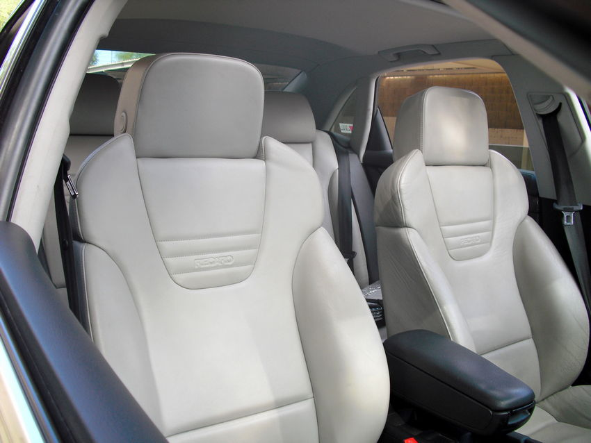 White leather seat