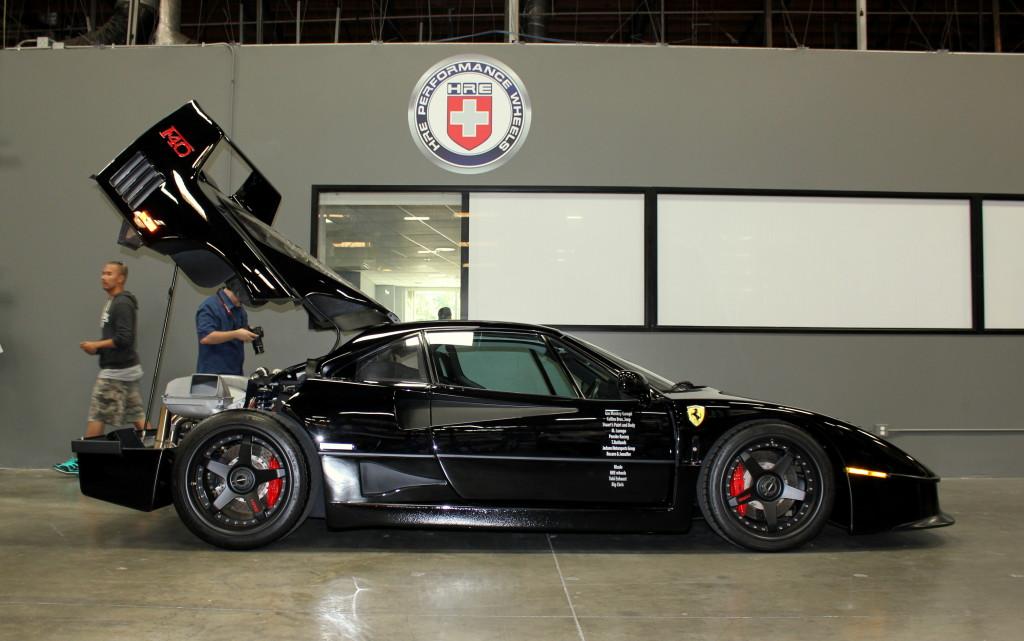 Black Ferrari F40 with HRE Wheels