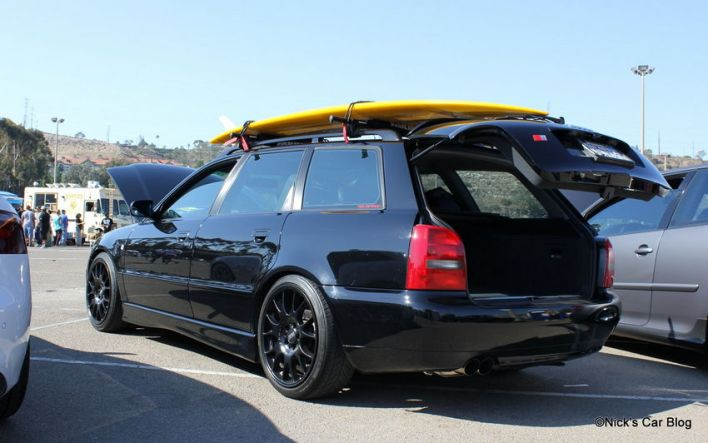 B5 S4 Avant with Surfboard