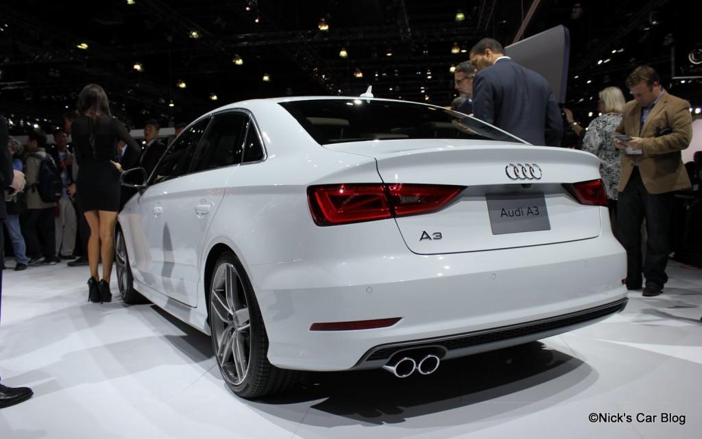 2015 Audi A3 Sedan Rear View