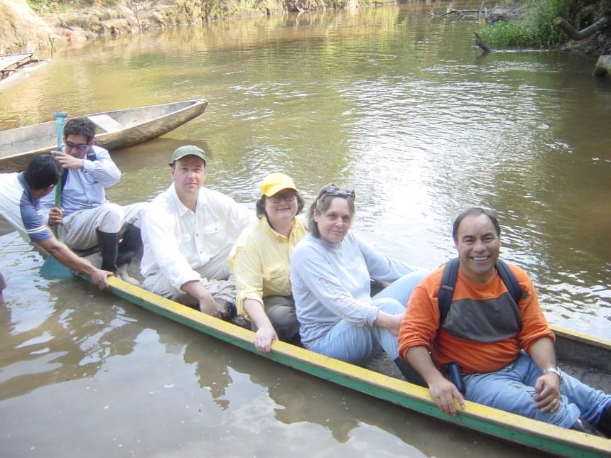 by canoe