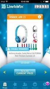 Live To Win App Winner Nick Throlson