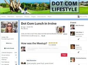 Dot Com Lifestyle Meetup.com Irvine