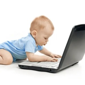 Baby On Laptop