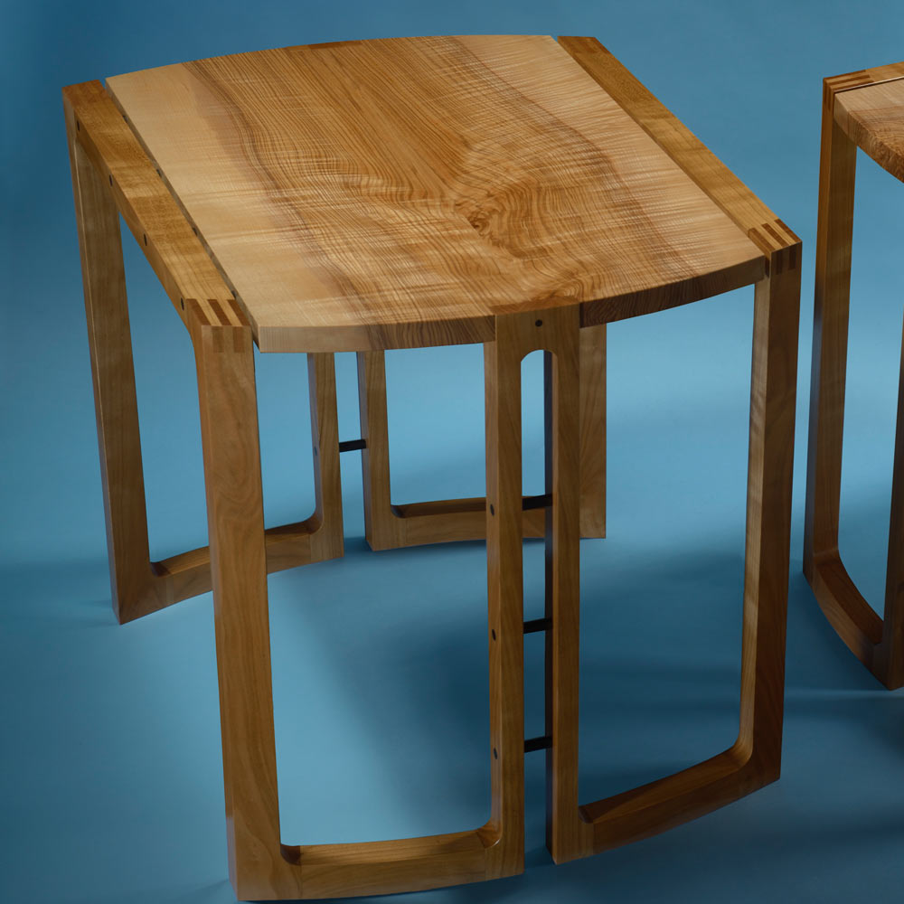 Ash and cherry side tables