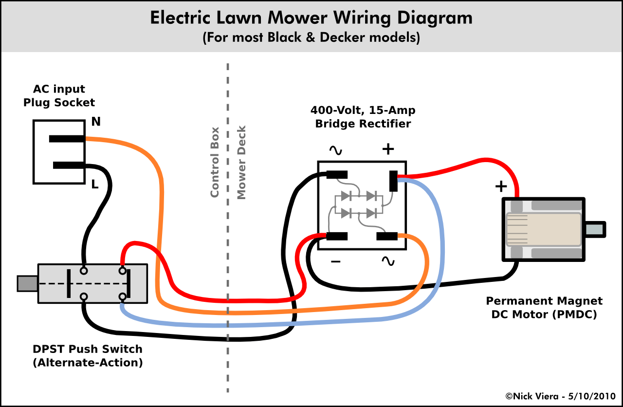 Nick Viera: Electric Lawn Mower Wiring Information