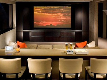 astonishing-home-theatre-living-room-ideas-with-cream-wooden-rectangle-bar-table-design-be-equipped-cream-fabric-4-modern-chair-on-the-floor-and-cream-fabric-upholstered-sofa-in-front-of-the-table-als